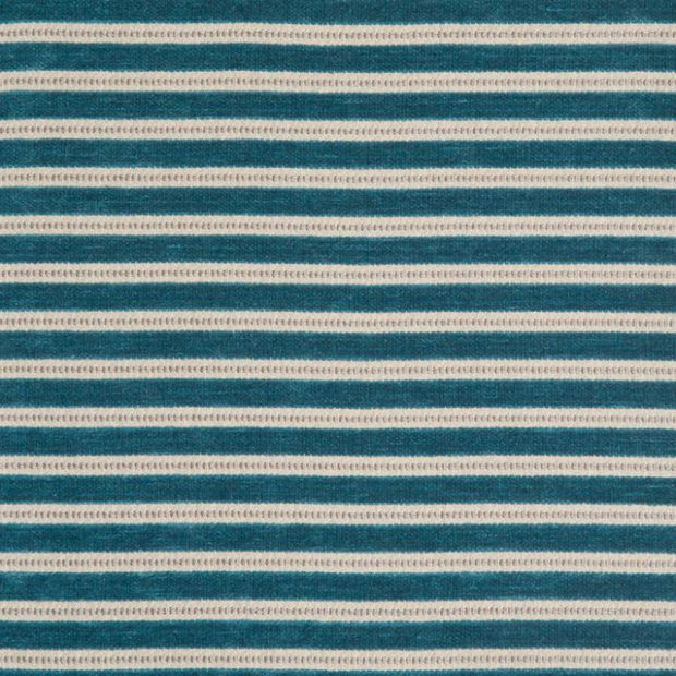 Photo of the fabric Links Aqua swatch by Zepel. Use for Curtains, Upholstery Medium Duty, Accessory, Top of Bed. Style of Pattern, Stripe