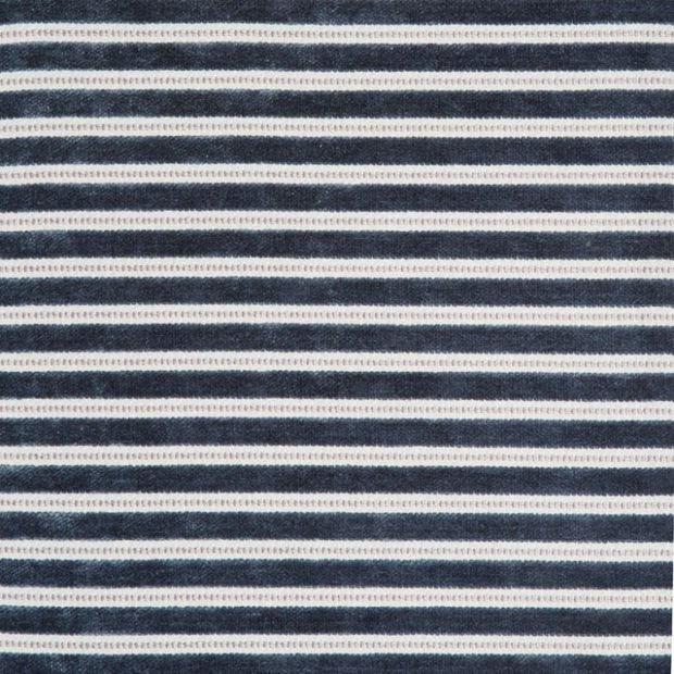 Photo of the fabric Links Surf swatch by Zepel. Use for Curtains, Upholstery Medium Duty, Accessory, Top of Bed. Style of Pattern, Stripe