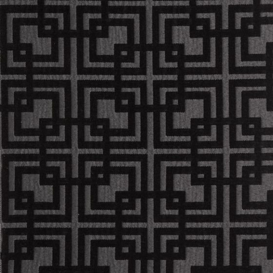 Photo of the fabric Network (Metropolitan) Graphite swatch by Zepel. Use for Curtains, Upholstery Medium Duty, Accessory, Top of Bed. Style of Geometric, Pattern