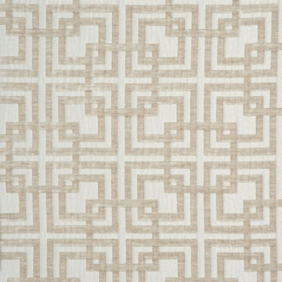 Photo of the fabric Network (Metropolitan) Pearl swatch by Zepel. Use for Curtains, Upholstery Medium Duty, Accessory, Top of Bed. Style of Geometric, Pattern