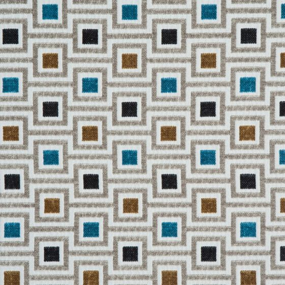 Photo of the fabric Subway Opal swatch by Zepel. Use for Curtains, Upholstery Medium Duty, Accessory, Top of Bed. Style of Geometric, Pattern