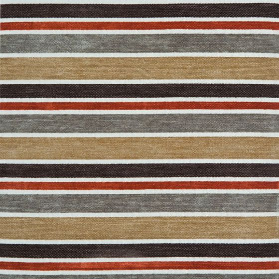 Photo of the fabric Hub Earthstone swatch by Zepel. Use for Curtains, Upholstery Medium Duty, Accessory, Top of Bed. Style of Pattern, Stripe