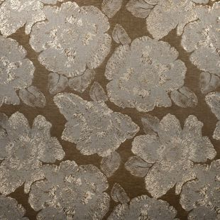 Photo of the fabric Caledonia Antique Gold swatch by Mokum. Use for Drapery, Accessory. Style of Abstract, Decorative, Floral And Botannical, Pattern
