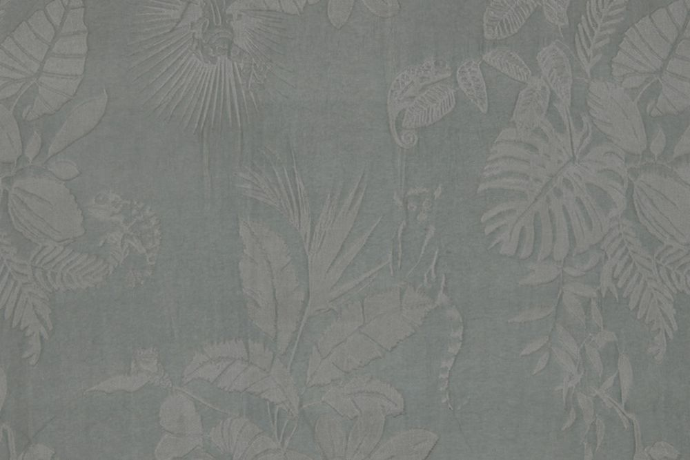 Photo of the fabric Jangala 14462 205 swatch by Christian Fischbacher. Use for Curtains, Accessory. Style of Decorative, Floral And Botannical, Pattern