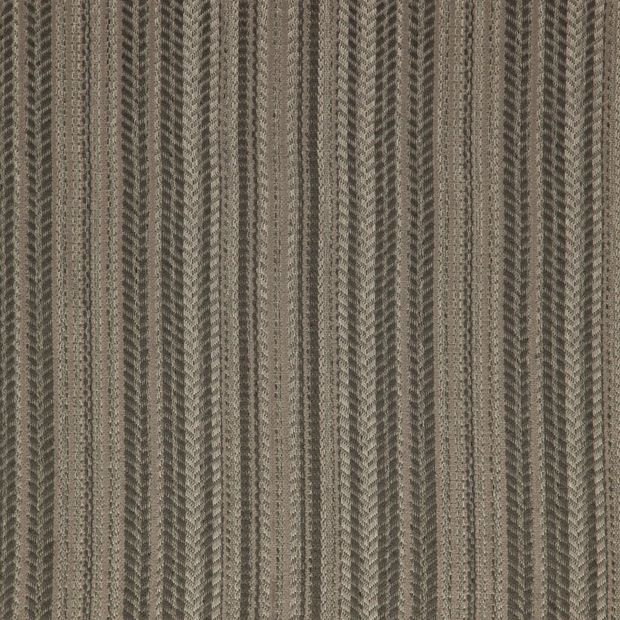 Photo of the fabric Tampa Flint swatch by Zepel FibreGuard. Use for Curtains, Upholstery Medium Duty, Accessory, Top of Bed. Style of Decorative, Pattern, Stripe