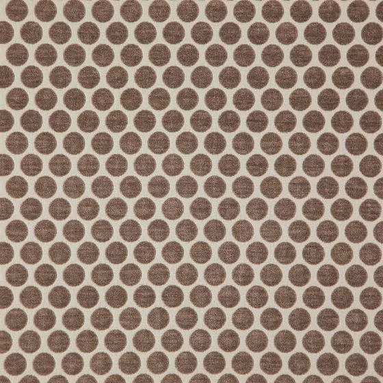 Photo of the fabric Bubble Ash Brown swatch by Zepel. Use for Curtains, Upholstery Medium Duty, Accessory, Top of Bed. Style of Geometric, Pattern