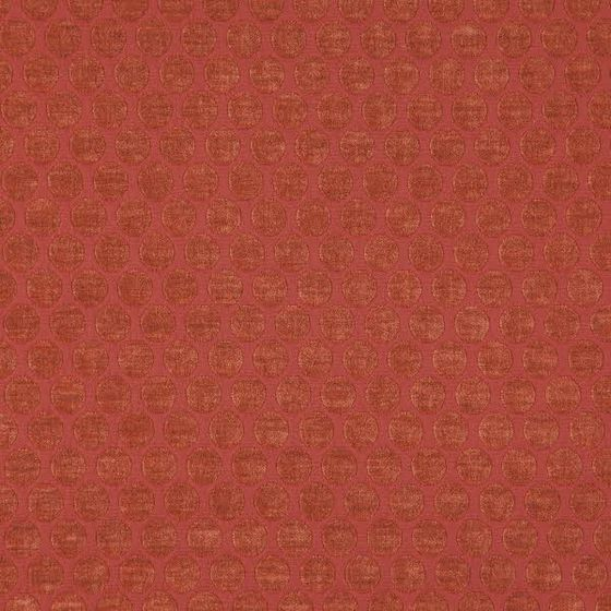 Photo of the fabric Bubble Burnt Orange swatch by Zepel. Use for Curtains, Upholstery Medium Duty, Accessory, Top of Bed. Style of Geometric, Pattern