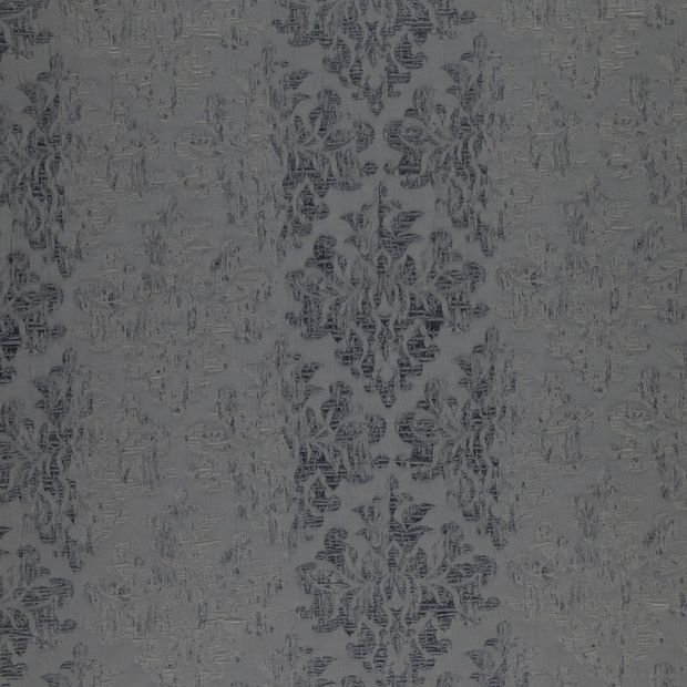 Photo of the fabric Objet Charcoal swatch by FR-One. Use for Curtains, Accessory. Style of Damask, Decorative, Pattern, Traditional