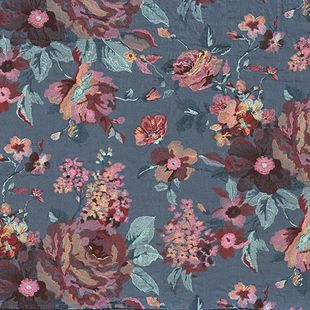Photo of the fabric Marlowe 4306 4306 05 05 swatch by Casamance. Use for Curtains, Accessory. Style of Decorative, Embroidery, Floral And Botannical, Pattern