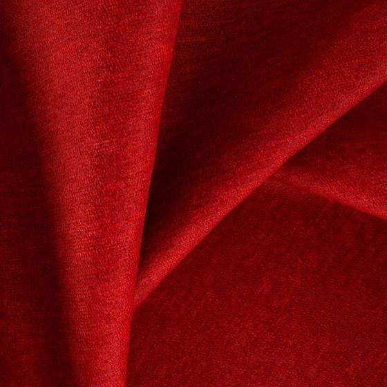 Photo of the fabric Baron Strawberry swatch by Zepel FibreGuard. Use for Curtains, Upholstery Heavy Duty, Accessory, Top of Bed. Style of Plain, Velvet