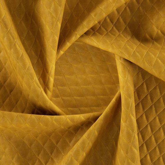Photo of the fabric Pia Amber swatch by Zepel FibreGuard. Use for Upholstery Heavy Duty, Accessory. Style of Geometric, Pattern, Velvet