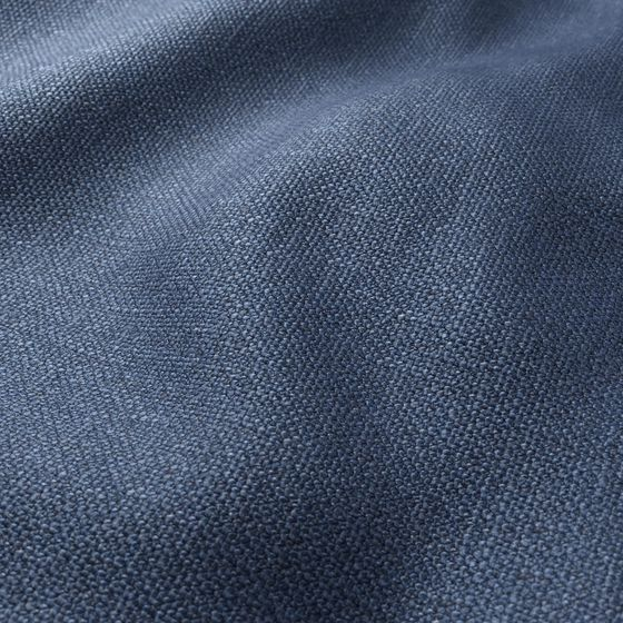 Photo of the fabric Rocco Indigo swatch by Zepel FibreGuard. Use for Upholstery Medium Duty, Accessory. Style of Plain, Texture