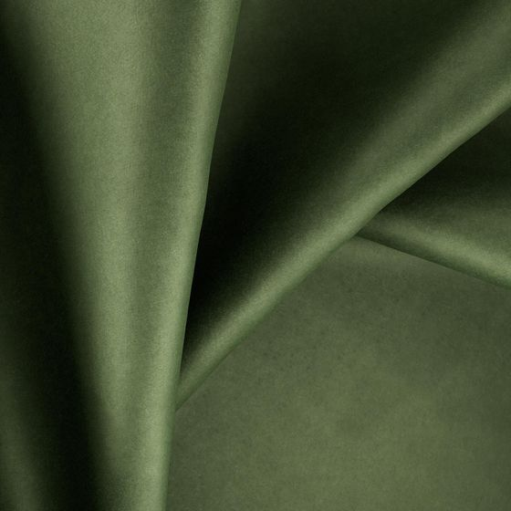 Photo of the fabric Warlock Velvet Olive swatch by Zepel. Use for Curtains, Upholstery Heavy Duty, Accessory, Top of Bed. Style of Plain, Velvet