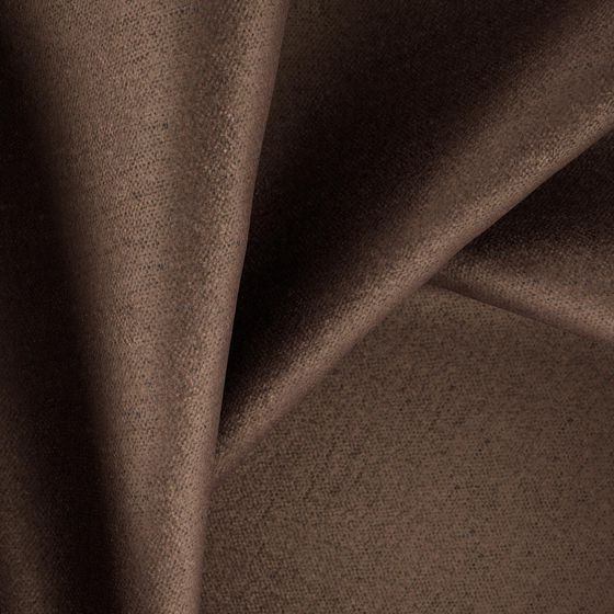Photo of the fabric Bolshoi Walnut swatch by Zepel. Use for Curtains, Upholstery Medium Duty, Accessory, Top of Bed. Style of Plain, Velvet