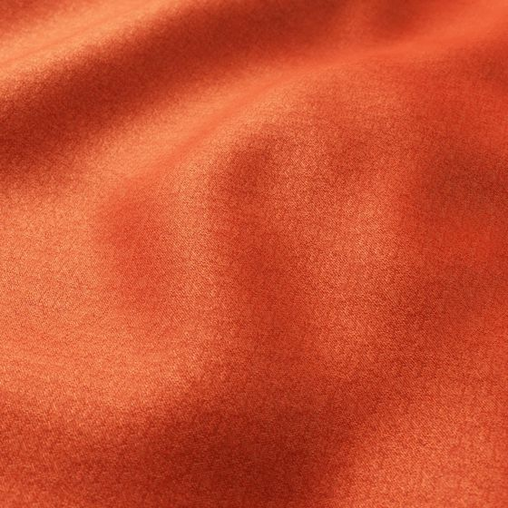 Photo of the fabric Bolshoi Persimmon swatch by Zepel. Use for Curtains, Upholstery Medium Duty, Accessory, Top of Bed. Style of Plain, Velvet