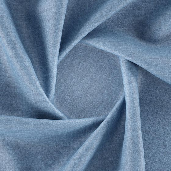 Photo of the fabric Deluxe Sky swatch by Zepel FibreGuard. Use for Upholstery Medium Duty, Accessory, Top of Bed. Style of Plain, Velvet