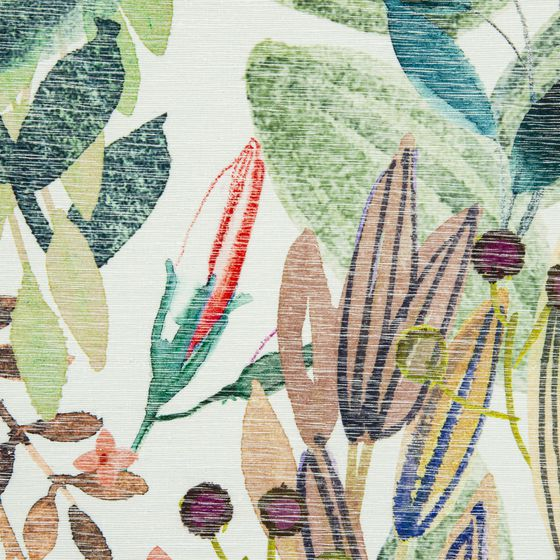 Photo of the fabric Estival 14641 102 swatch by Christian Fischbacher. Use for Curtains, Accessory. Style of Decorative, Floral And Botannical, Pattern