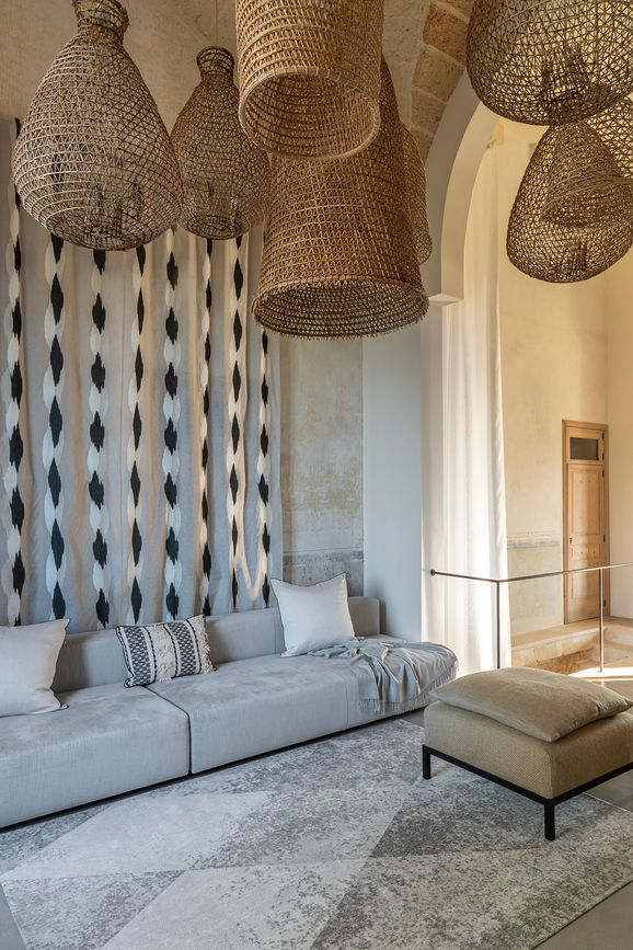 Photo of the fabric Monterrey 10806 * 603 in situ by Christian Fischbacher. Use for Curtains. Style of Decorative, Pattern