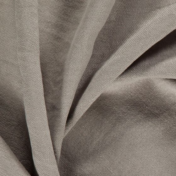 Photo of the fabric Brugge Taupe swatch by Zepel. Use for Curtains, Accessory, Top of Bed. Style of Plain, Texture, Traditional