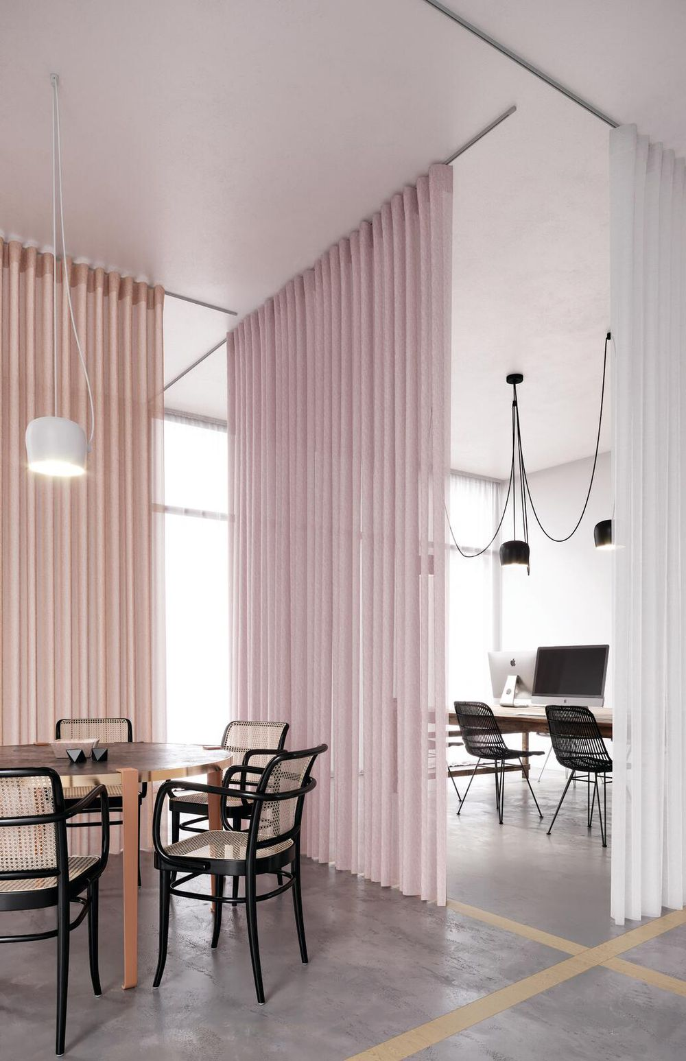 Photo of the fabric Allusion Seagrass in situ by Zepel. Use for Sheer Curtains. Style of Plain, Sheer