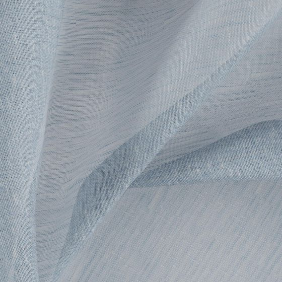 Photo of the fabric Allusion Sky swatch by Zepel. Use for Sheer Curtains. Style of Plain, Sheer