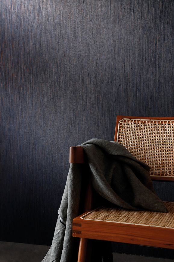 Photo of the fabric Jussieu Wallpaper 7064 7064 01 02 in situ by Casamance. Use for Wall Covering. Style of Plain