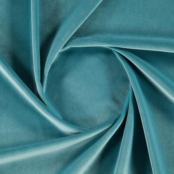 Photo of the fabric Lech Aqua swatch by Zepel FibreGuard. Use for Curtains, Upholstery Medium Duty, Accessory, Top of Bed. Style of Plain, Velvet