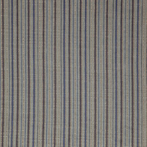 Photo of the fabric Oviedo Azure swatch by Zepel FibreGuard. Use for Curtains, Upholstery Heavy Duty, Accessory, Top of Bed. Style of Decorative, Pattern, Stripe