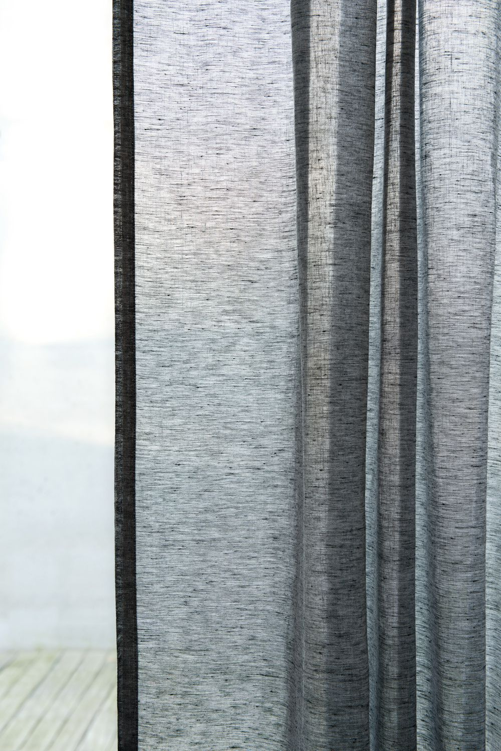 Photo of the fabric Allusion Feather in situ by Zepel. Use for Sheer Curtains. Style of Plain, Sheer