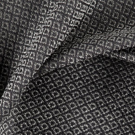 Photo of the fabric Emoticon Charcoal swatch by Zepel FibreGuard. Use for Upholstery Heavy Duty, Accessory. Style of Damask, Plain, Texture