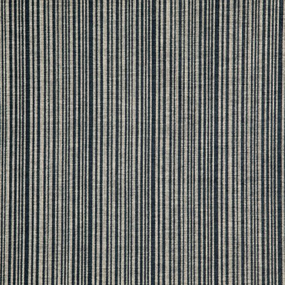 Photo of the fabric Fairchild Fog swatch by Zepel FibreGuard. Use for Curtains, Upholstery Heavy Duty, Accessory, Top of Bed. Style of Pattern, Stripe