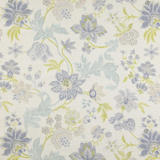 Photo of the fabric Frangipani Oasis swatch by Zepel. Use for Curtains, Upholstery Medium Duty, Accessory, Top of Bed. Style of Floral And Botannical, Pattern, Print