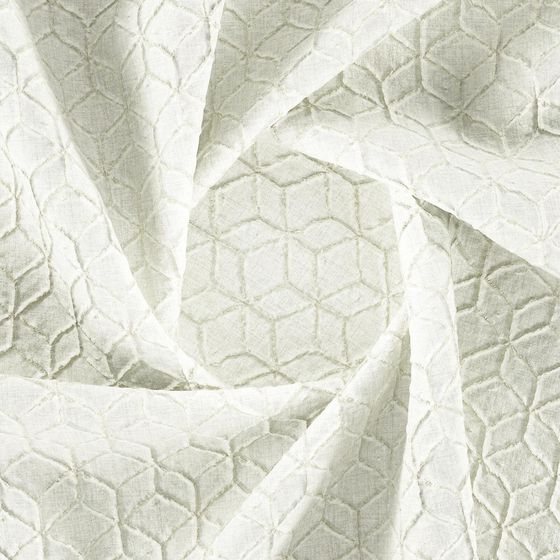 Photo of the fabric Momentous Cream swatch by Zepel. Use for Curtains, Accessory, Top of Bed. Style of Geometric, Pattern, Print