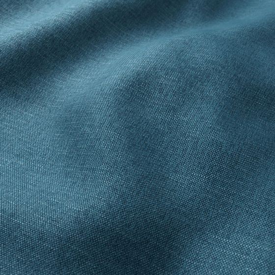 Photo of the fabric Perfecto Teal swatch by Zepel FibreGuard. Use for Curtains, Upholstery Medium Duty, Accessory, Top of Bed. Style of Plain